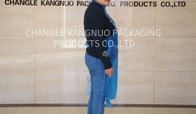 Medical Disposable Aprons On A Roll , Blue Color Plastic Polythene Aprons